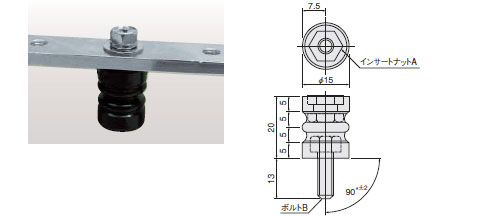 サポーター(低圧機内導体絶縁支持台) SMBシリーズ ナットボルトタイプ